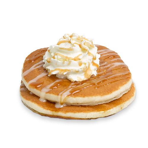 Maple, Caramel & White Chocolate Pancakes