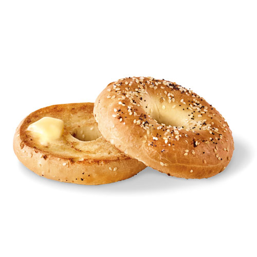 Everything Bagel with butter