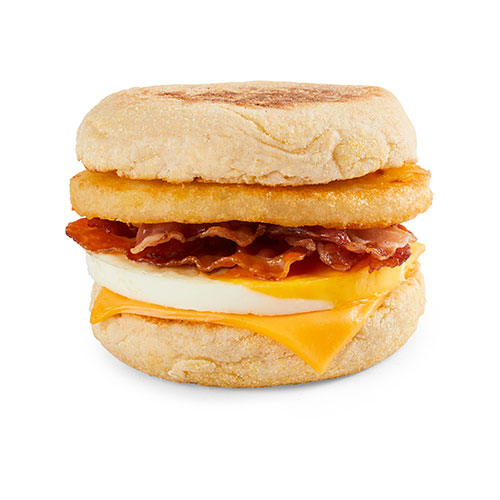 Bacon & Egg Muffin Stack