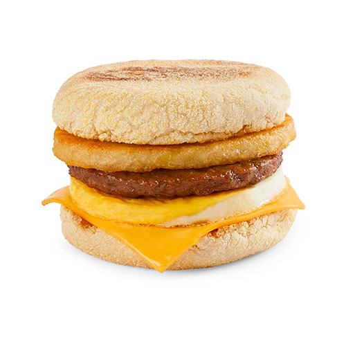 Sausage & Egg Muffin Stack