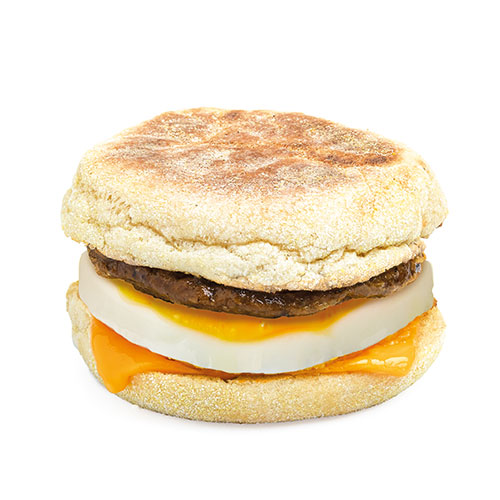 Veggie Sausage, Egg & Cheese Muffin